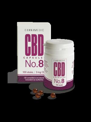 CBD 3 mg 100 Capsules No. 8 Cannamedic