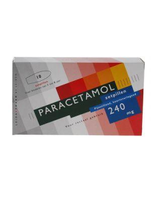 Paracetamol 240 mg 10 zetpillen  Leidapharm