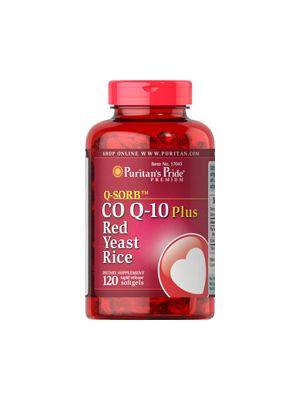 Puritan's Pride Co Q 10 plus red yeast rice 120 Softgels 17045