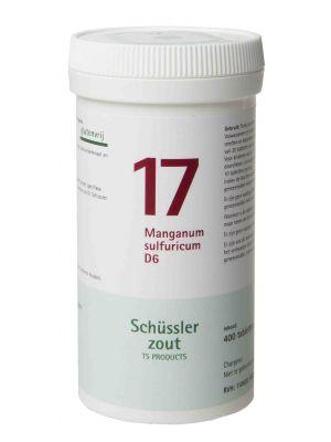Schussler zout pfluger nr 17 Manganum Sulfuricum D6 400 tabletten Glutenvrij