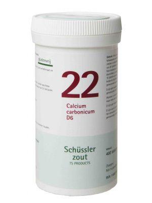 Schussler zout pfluger nr 22 Calcium Carbonicum D6 400 tabletten Glutenvrij