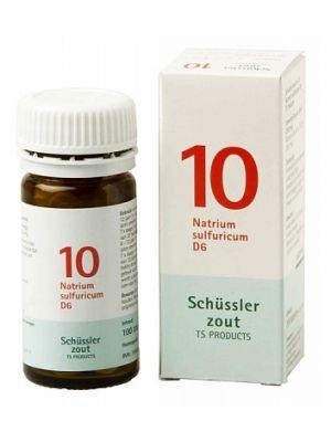 Schussler zout pfluger nr 10 Natrium Sulfuricum D6 100 Tabletten Glutenvrij