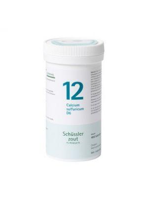 Schussler zout pfluger nr 12 Calcium Sulfuricum D6 400 Tabletten Glutenvrij