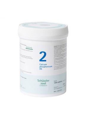 Schussler zout Pfluger nr 2 Calcium Phosphoricum D6 1000 Tabletten Glutenvrij