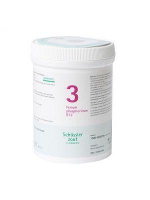 Schussler zout pfluger Nr 3 Ferrum Phosphoricum D12 1000 Tabletten Glutenvrij