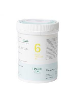 Schussler zout pfluger nr 6 Kalium Sulfuricum D6 1000 Tabletten Glutenvrij