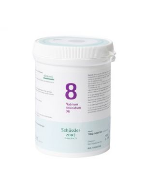 Schussler zout pfluger nr 8 Natrium Chloratum D6 1000 Tabletten Glutenvrij
