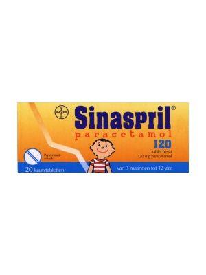 Sinaspril paracetamol 16 kauwtabletten