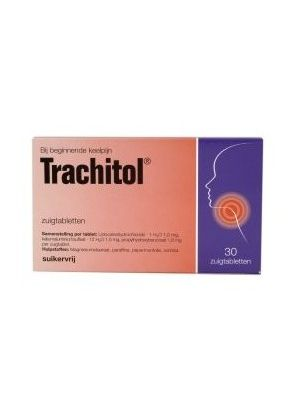Trachitol suikervrij 30 zuigtabletten