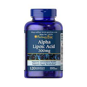 Puritan's Pride Alpha Lipoic Acid 300 mg 120 Softgels 13578