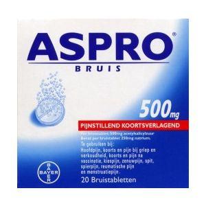 Aspro bruis 500 mg 20 Bruistabletten Bayer