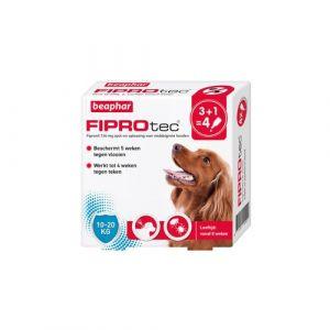 Beaphar Fiprotec voor honden tegen teken en vlooien 10-20 kg 4 x 1,34 ml pipetten