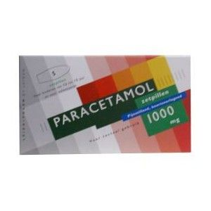Paracetamol 1000mg 5 Zetpillen Leidapharm