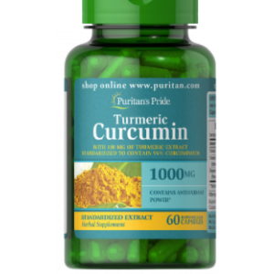 Puritan's Pride Turmeric Curcumin with Bioperine 1000 mg 60 Capsules 78826
