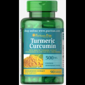 Puritan's Pride Turmeric Curcumin 500 mg 90 Capsules 15418