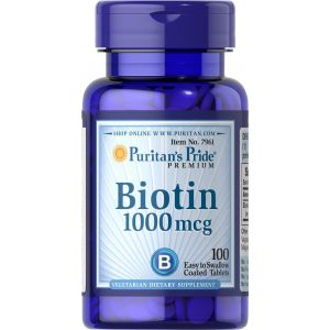 Puritan's Pride Biotin 1000 mcg 100 Tabletten 7961