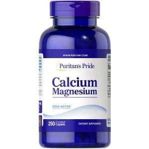 Puritan's Pride Chelated Calcium Magnesium 250 Coated Caplets 4083