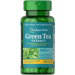Puritan's Pride Green tea Extract 315 mg 100 Capsules 3131