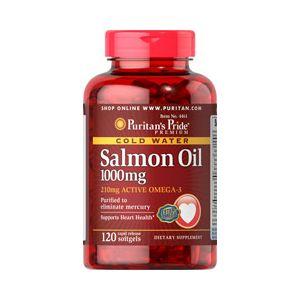Puritan's Pride Omega 3 Salmon Oil 1000 mg 120 Softgels 4461