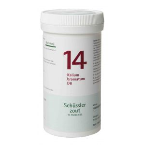 Schussler zout pfluger nr 14 Kalium Bromatum D6 400 tabletten Glutenvrij