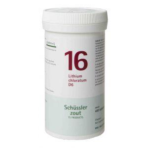 Schussler zout pfluger nr 16 Lithium Chloratum D6 400 tabletten Glutenvrij