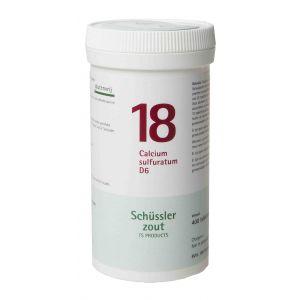 Schussler zout pfluger nr 18 Calcium Sulfuratum D6 400 tabletten Glutenvrij