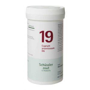Schussler zout pfluger nr 19 Cuprum Arsenicosum D6 400 tabletten Glutenvrij