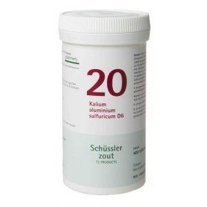 Schussler zout pfluger nr 20 Kalium Aluminium Sulfuricum D6 400 tabletten Glutenvrij