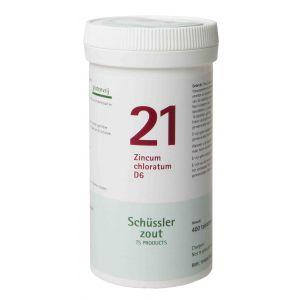 Schussler zout pfluger nr 21 Zincum Chloratum D6 400 tabletten Glutenvrij