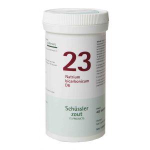 Schussler zout pfluger nr 23 Natrium bicarbonicum D6 400 tabletten Glutenvrij