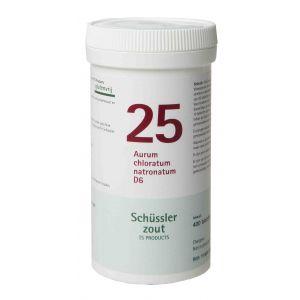 Schussler zout pfluger nr 25 Aurum Chloratum Natronatum D6 400 tabletten Glutenvrij