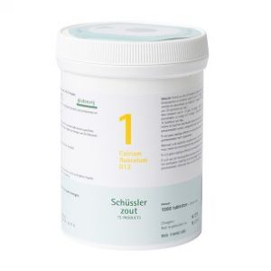 Schussler zout pfluger Nr 1 Calcium floratum D12 1000 Tabletten Glutenvrij