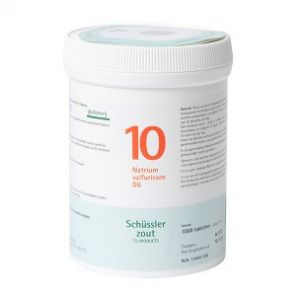 Schussler zout pfluger nr 10 Natrium Sulfuricum D6 1000 Tabletten Glutenvrij