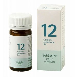 Schussler zout pfluger nr 12 Calcium Sulfuricum D6 100 Tabletten Glutenvrij