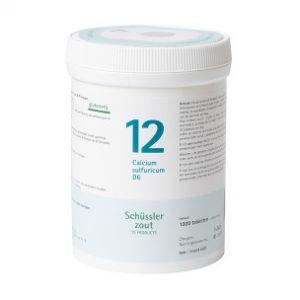 Schussler zout pfluger nr 12 Calcium Sulfuricum D6 1000 Tabletten Glutenvrij