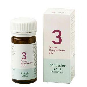 Schussler zout pfluger Nr 3 Ferrum Phosphoricum D12 100 Tabletten Glutenvrij