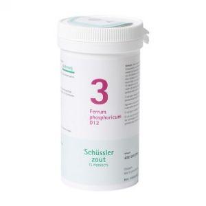 Schussler zout pfluger Nr 3 Ferrum Phosphoricum D12 400 Tabletten Glutenvrij