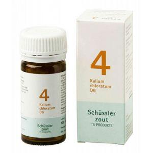 Schussler zout pfluger nr 4 Kalium Chloratum D6 100 Tabletten Glutenvrij