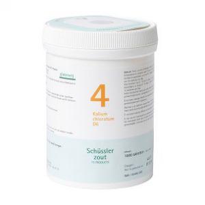 Schussler zout pfluger nr 4 Kalium Chloratum D6 1000 Tabletten Glutenvrij