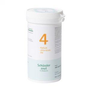 Schussler zout pfluger nr 4 Kalium Chloratum D6 400 Tabletten Glutenvrij