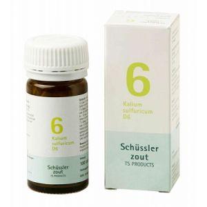 Schussler zout pfluger nr 6 Kalium Sulfuricum D6 100 Tabletten Glutenvrij