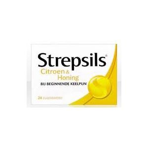 Strepsils Citroen & Honing 36 Zuigtabletten